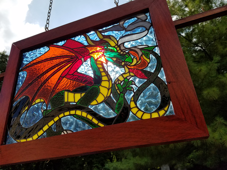 Stained Glass Dragon (Finished) by HopeLegacy