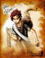 Gaara's bloody sand by powerman2000