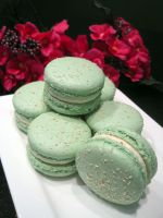Coconut Passionfruit Macarons by Sliceofcake