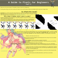 A Guide to Pixels for Beginners, Part 2 by ShiftyCheesecake