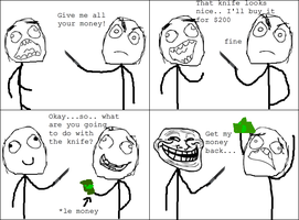 Trolling a Thug -Rage Comic- by Albowtross91
