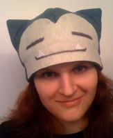 Felt Snorlax Hat by Red-Flare