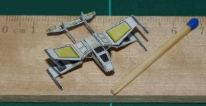 X-83 Twintail Starfighter - Star Wars miniature by SarienSpiderDroid