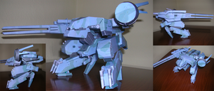 Metal Gear Rex - papermodel by Cluelessuser