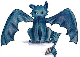 Toothless Cartoony by vivsters