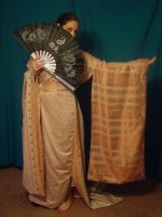 Copper Zari Kimono 3 by HiddenYume-stock