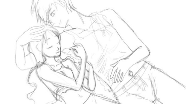 Narusaku WIP2 by NeonAnimePrincess