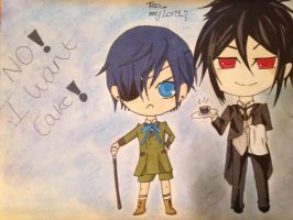 Chibi Ciel and Sebby, FInished. by thegrudgegirl96