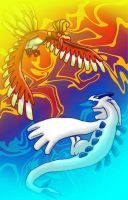 HO-OH vs. Lugia by missyDischa