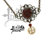 Steampunk Rose Necklace by TheoGoth