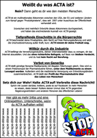 Anti ACTA flyer and poster 5 by IFM-Store