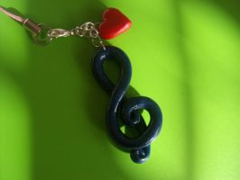 Treble Clef Charm by jely-claris-anne