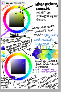 Colour palette tutorial by skeletonparties
