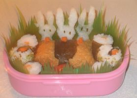 Sushi Dinner Bento by gargoylekitty