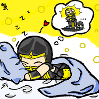 Sleeping Chibi Scorpion by zetsumeininja