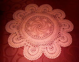 Crocheted tablecloth 2 by ToveAnita