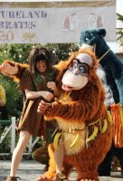 Mowgli and King Louie by Mlle-Dreamer