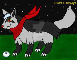 Eluza hawkeye (mightyena) by Wolfeenix