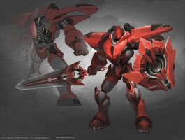 Red Comet Mecha by YanmoZhang
