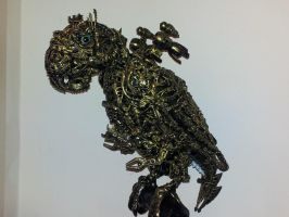 steampunk cyberpunk borg parrot by overlord-costume-art