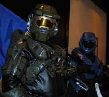 Master Chief and Noble 6 by fcneko