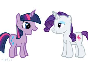 Twilight And Rarity.. Or? by MioAis