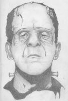 Frankenstein Karloff sketch by Dodeone
