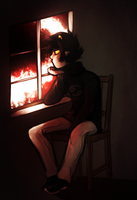 Karkat On A Chair Ft Window by xXAri-Dark-BlueXx