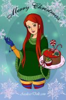 Christmas-Girl by ghost13warrior