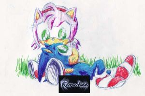 Chibi Sonamy- Sonic and Amy by Renchee