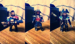 League of legends - Bilgewater event Papercrafts by alicestuff