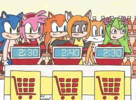 Sonic on Supermarket Sweep by DJgames
