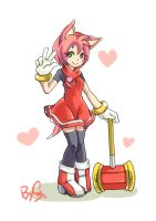 AMY ROSE by satans-s