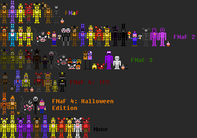 Five Nights at Freddy's pixel sprites by DaHooplerzMan