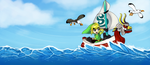 Wind Waker: Sailing the Great Sea by XxMoonDropsxX