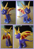 Spyro sculpture 2 by xNIR0x