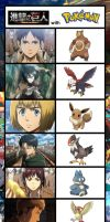 Attack on Titan with Pokemon!? by Evanest