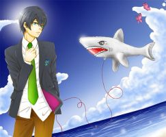 Haru loves Sharks by andungen
