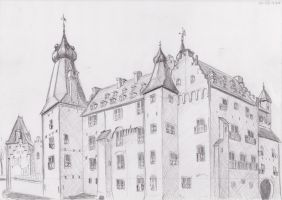 Castle Sketch by Ayedail