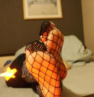 Fishnetted soles and a star by Peach09