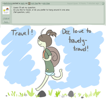 Question 1: Travel? by Ask-Dee
