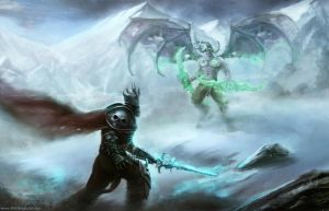 Arthas vs illidan by Timskoglund