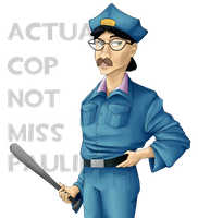 Actual cop, not Miss Pauling by Reneehere