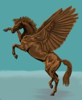 Golden pegasus by thuvia