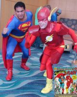 The Greatest Race between Superman and Flash by trivto