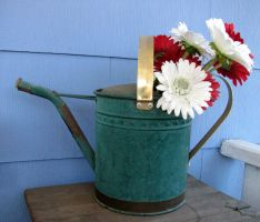 Flowers in Watering Can by thiselectricheart