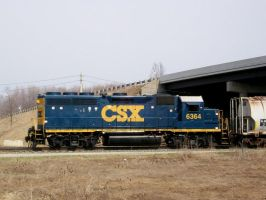 CSX GP40-2 6364 by LDLAWRENCE