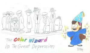 The Color Wizard in The Great Depression by komi114