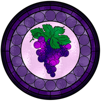 Grape Stained Glass Window by FluidGirl82