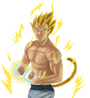 Fanservice Vegeta - Thank you!! by saiyanbura
